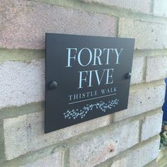 Modern House Sign Personalised For Your Door and Home   Unique Matt black or white acrylic perspex address yard street plaque   Beautiful traditional digitally UV printed panel, any digits, number and/or text not cheap vinyl   Made in the UK   Weatherproof house name plate   Fully personalized custom front door number signage   Stylish design can be used for businesses   Fixings included   Fast delivery   Choose from a selection of fonts (Black): Amazon.co.uk: Garden & Outdoors