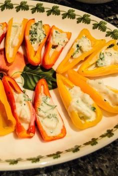 Peppers with Goat Cheese, Creme Fraiche and Parsley