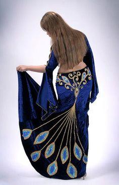 Peacock bellydance skirt