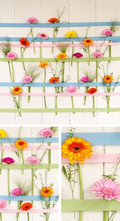 This DIY will rock your garden party! #DIY #gerbera #colourful