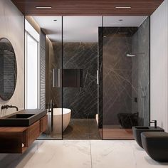 "25.2 mil Me gusta, 127 comentarios - Interior Design & Decor (@homeadore) en Instagram: ""Modern Bathroom by Quadro Studio """
