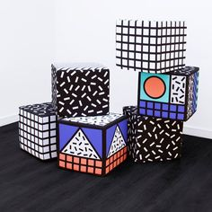 Memphis patterns influence homeware by Camille Walala