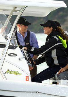 Kate at the wheel.