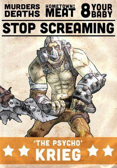 Wrestling-style Borderlands 2 posters