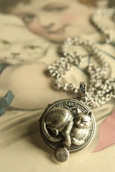 Such a pretty cat locket.