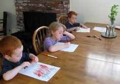 homeschool at kitchen table