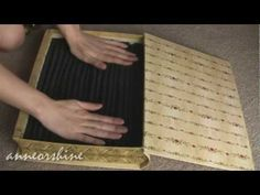 DIY: Easy to Make Jewelry and Statement Ring Storage Box. for the inside ring area Diy Rings Storage, Jewellery Storage, Jewellery Display, Jewelry Organization, Storage Ideas, Diy Jewellery, Handmade Jewelry, Book Jewelry, Jewelry Crafts