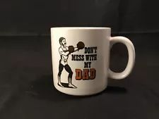 DON'T MESS WITH MY DAD Coffee Mug – Made in Korea Novelty Gifts, Coffee Mugs, Tableware, How To Make, Dinnerware, Coffee Cups, Tablewares, Dishes, Place Settings