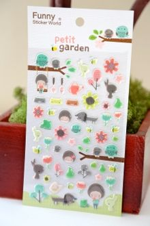 Funny Sticker World:  Petit Garden Puffy Stickers Stickers from Korea #KoreanStationery #CuteStickers #KoreanStickers #ayellowgiraffe