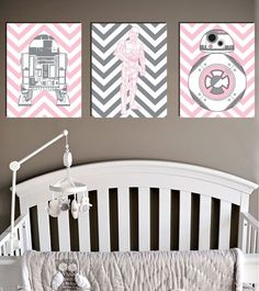 Star Wars, C3PO R2D2 BB8, Droids in Pink, Jedi Decor, Empire, Baby Girl Toddler…