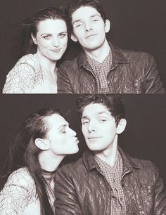 Katie McGrath & Colin Morgan so cute!