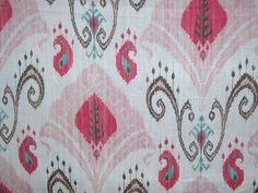 Aquitaine Samarkand Candy Pig Fabric,Aquitaine,Aquitaine Fabrics ...