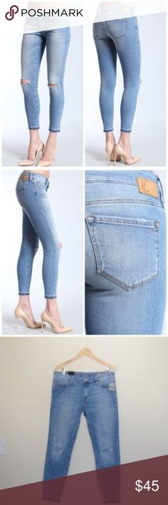 MAVI ALEXA ANKLE SKINNY W/CUT EDGE NWT Skinny ankle, bought on poshmark just dont fit me. Great looking jean. Mavi Jeans Ankle & Cropped