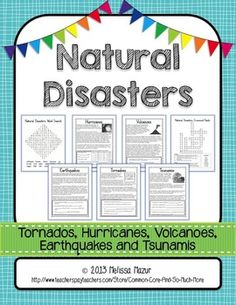 This unit contains 7 pages to help enhance your unit on natural disasters.