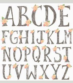 Digital Alphabet Letters. Digital Scrapbook Alphabet. Digital | Etsy