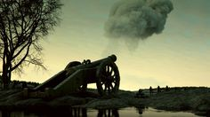 Old Cannon Fires. Rendered with V-Ray RT GPU in Autodesk 3ds max. Old cannon on field from Studio Dabarti. Selection of clips from February 2016. Our complete RF portfolio you can find here: www.shutterstock.com www.dissolve.com www.pond5.com  More info: dabarti.com/royalty-free-cgi-stocks/ facebook.com/DabartiCGI instagram.com/dabarti_cgi/