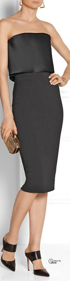 Victoria Beckham ● stretch cotton-blend dress