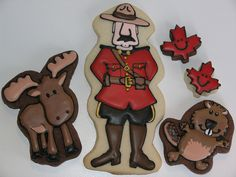 Canadian Icons Cookies!  For my favorite Canadian @Mina Mahmudi Soares                                                *Fresh Appeal Staging*