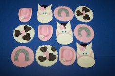 Fondant Toppers  Hoedown by TheCakeDiva on Etsy, $10.95