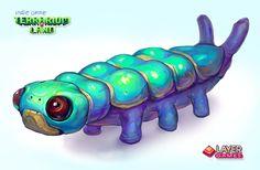 """Small caterpillar. 3d indie game """"Terrarium-land"""" art.  #terrarium_land, #gamedev, #indiedev, #animals, #art,"""