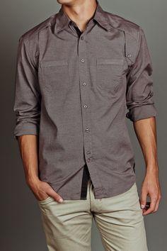 Bonafide Porter L/S Shirt Brown