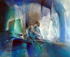 """Annette Schmucker, """"Im blauen Raum"""" With a click on """"Send as art card"""", you can send this art work to your friends - for free!"""
