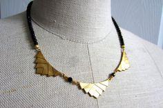 Unique chevron statement necklace