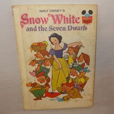 Vintage Snow White and the Seven Dwarfs Book 1973 Walt Disney's Hard Cover  #WaltDisneys