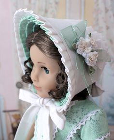 1850s Dress and Bonnet for Marie Grace or Cecile by BabiesArtUs