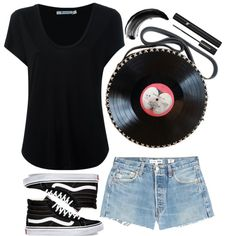 street style by ecem1 on Polyvore featuring Alexander Wang, RE/DONE, Vans and Lancôme