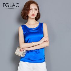 >> Click to Buy << FGLAC Women tops New 2017 Spring and Summer Sleeveless Women tank tops Elegant Slim O-neck women t-shirt women clothing #Affiliate