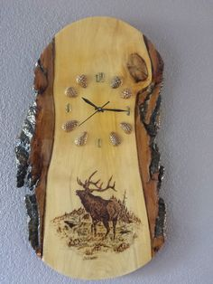 Elk Wood Clock                                                       …
