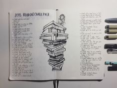 2018 reading challenge. #bulletjournal #readingchallenge #books