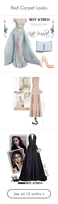 """""""Red Carpet Looks"""" by aliyah3williams ❤ liked on Polyvore featuring Christian Louboutin, Yves Saint Laurent, Elie Saab, Gianvito Rossi, Edie Parker, ElieSaab, polyvoreeditorial, cateblanchett, oscarfashion and Sophie Theallet"""