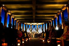 peristyle-new-orleans-wedding lit up at night