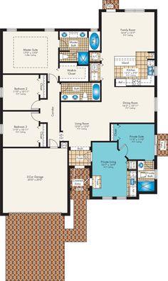 The Chardonnay - NEXT GEN new home plan: 2,217 sq. ft / 4 bedrooms / 3 bathrooms