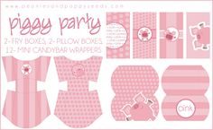 Piggy Party Printables: treats | Peonies and Poppyseeds