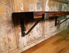 Sale! Metal Shelf Bracket, 2PC Set, Handmade, Metal, Simple Scrolled,Corbel, Open Shelving