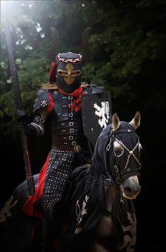 Black knight rides into battle