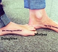 Love this idea- mother and daughter tattoos