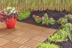 I found a Interlocking Faux Wood Deck & Patio Tiles, 10-Pack at Big Lots for less. Find more Garden Decor at biglots.com!