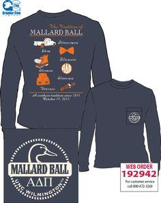 Mallard Ball Alpha Delta Pi shirt by James