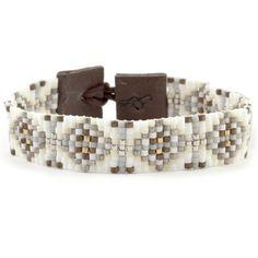 Chan Luu - Cream Mix Single Wrap Bracelet on Brown Leather, $120.00 (http://www.chanluu.com/bracelets/cream-mix-single-wrap-bracelet-on-brown-leather/)