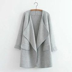 Soft Cozy Warm Knitted Open-Front Casual Cardigan Sweater One Size 2 Colors