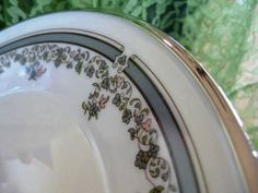 Lenox Lace Point Dinner Plates Excellent Vintage by ChinaGalore, $40.00