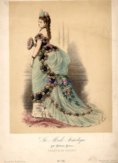 Concert dress, ca 1870-74 France, La Mode Artistique | Threading ...