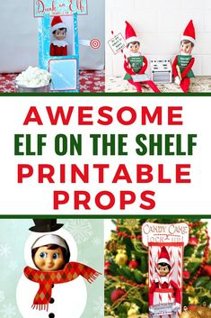 Adorable Elf on the Shelf Printable Props, Letters and More : These Elf on the Shelf printable props, letters and more will make your December easier and more exciting! All Things Christmas, Christmas Holidays, Christmas Crafts, Christmas Ideas, Grinch Christmas, Christmas Carol, Christmas Recipes, Christmas Decorations, Elf On The Self