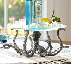 Shop octopus serving pedestal from Pottery Barn. Our furniture, home decor and accessories collections feature octopus serving pedestal in quality materials and classic styles. Kraken, Beach House Decor, Beach Condo, Home Decor, Pedestal, Octopus Design, Octopus Decor, Octopus Print, Beach Cottages