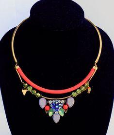 NWT Authentic J Crew Neon pop charm collar necklace Multi $138 Item # C9914    eBay