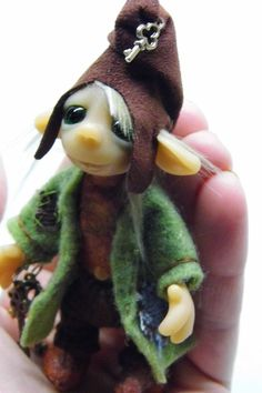 Ooak Handmade Polymer Clay Woodland Troll Elf by Woodlandkreatures, $58.00